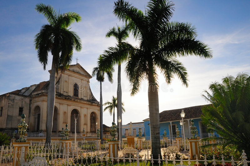 Piazzabürgermeister, Trinidad, Kuba stockfotos