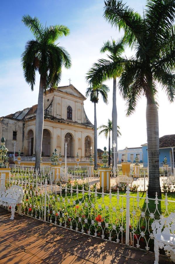 Piazzabürgermeister, Trinidad, Kuba lizenzfreie stockfotos