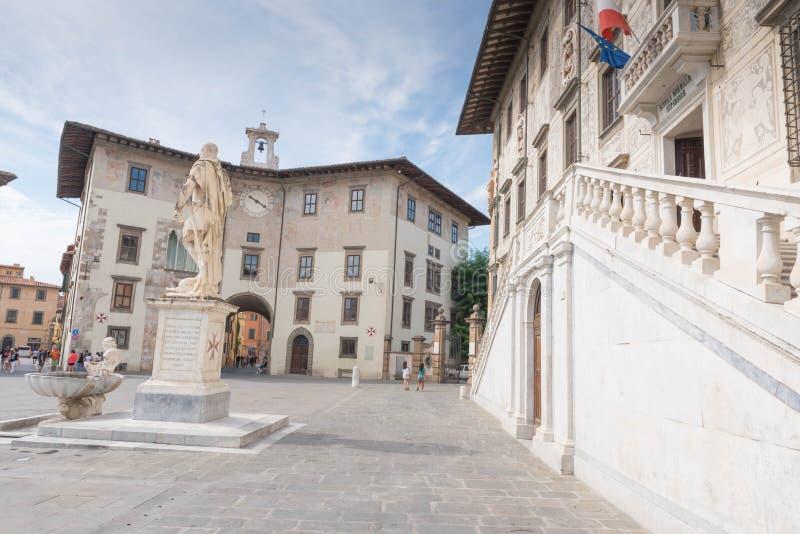 Piazzadei Cavalieri i Pisa arkivbild