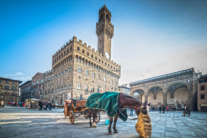 Piazzadella Signoria royaltyfria bilder