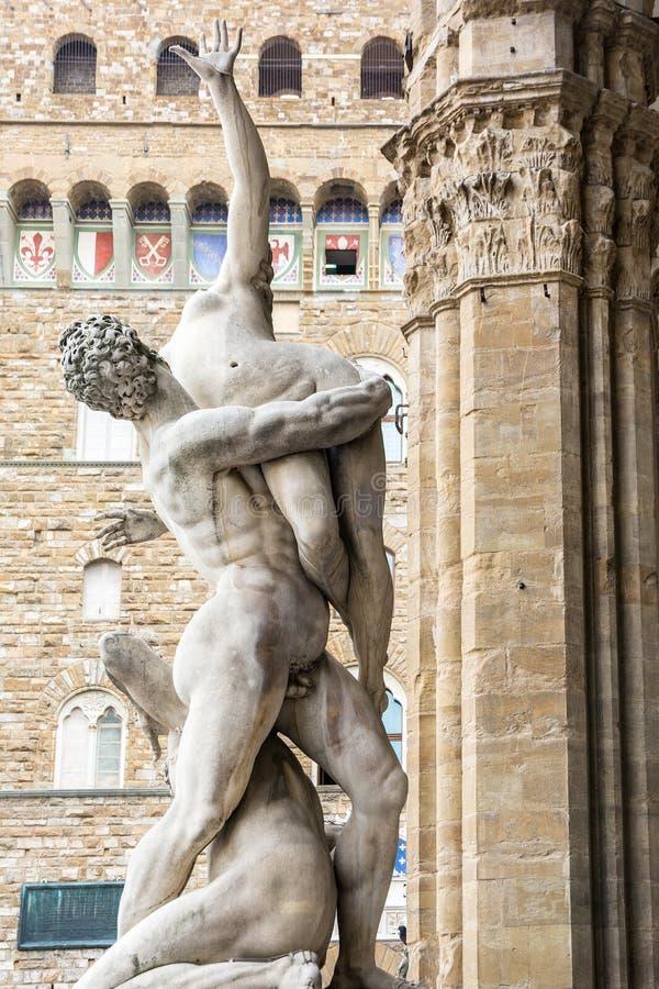 Piazzadella Signoria arkivfoton