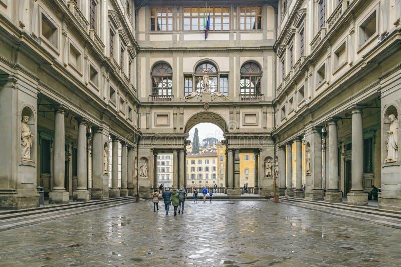 Piazzale Degli Uffizi, Firenze, Italia immagini stock libere da diritti