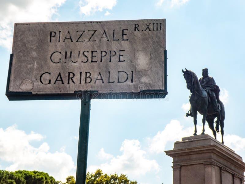 Piazzale Giuseppe Garibaldi, Roma, Italia imagen de archivo libre de regalías