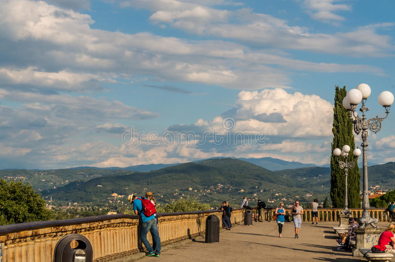 Download In The Piazzale Michelangelo Editorial Photo - Image: 83712476