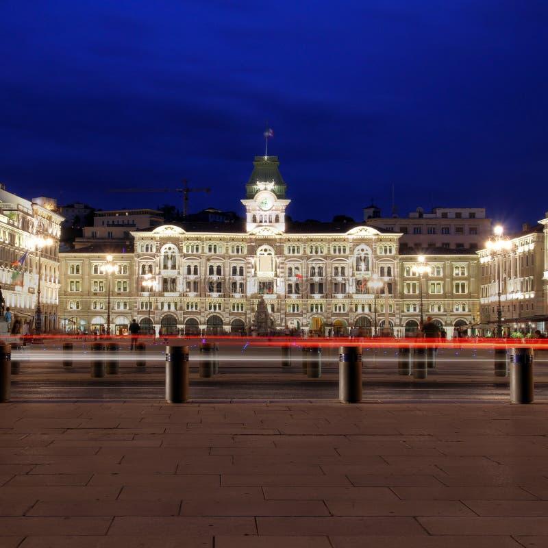 PiazzaUnita-d'Italia, Trieste, Italien royaltyfria bilder