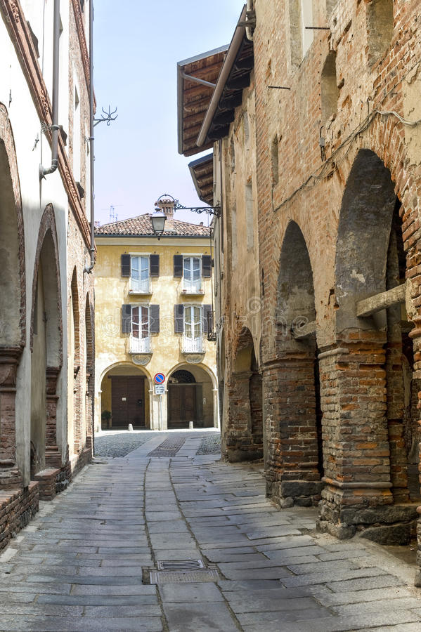 Piazzo di Biella. Piazzo (Biella, Piedmont, Italy) - A street of the ancient town stock photos