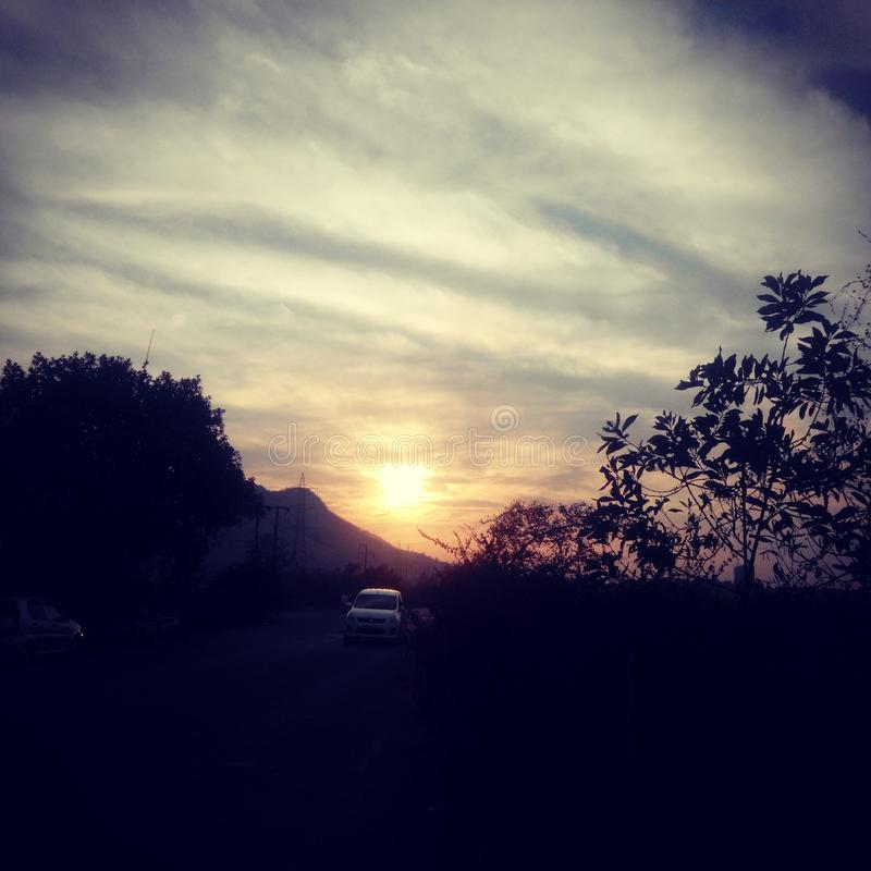 PIC ηλιοβασιλέματος στοκ φωτογραφία