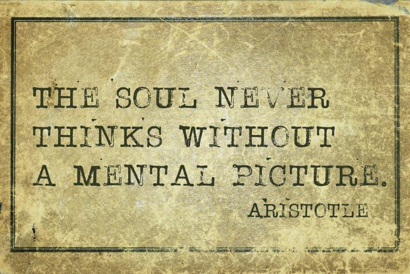 Pic Аристотель души стоковое изображение