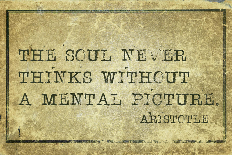 PIC Aristotle da alma imagem de stock