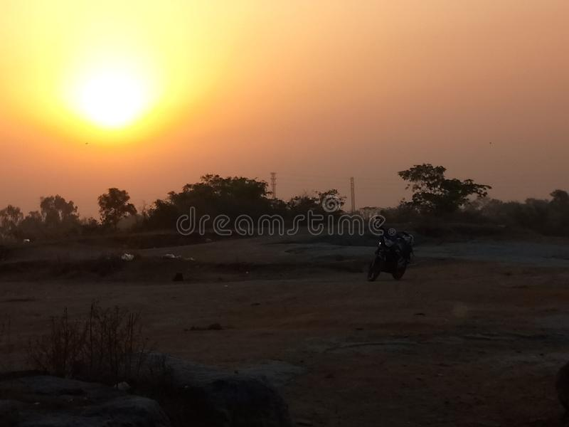 SUNSET. The pic is click by me 😎 🙏 plzz buy it royalty free stock photo