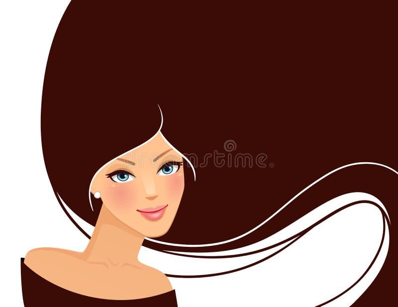 Pic de la mujer de la belleza stock de ilustración
