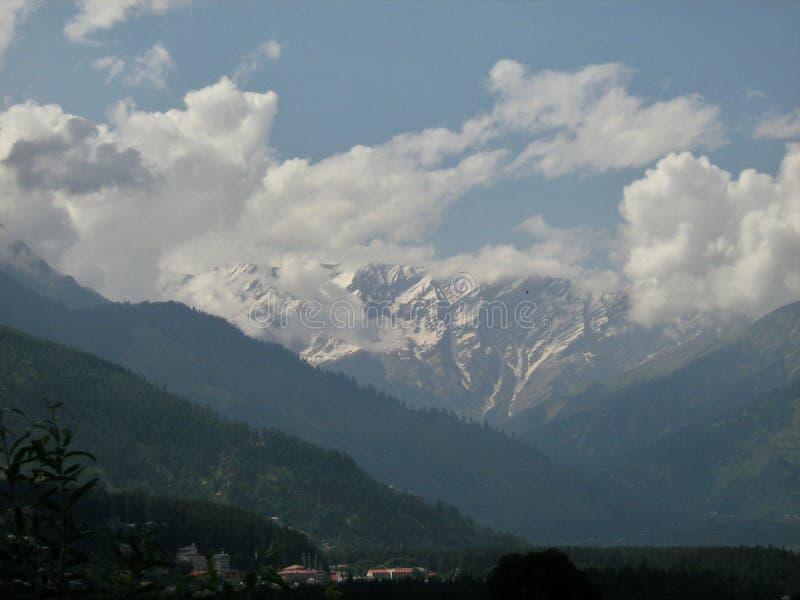Pic de neige à Leh Ladakh image libre de droits