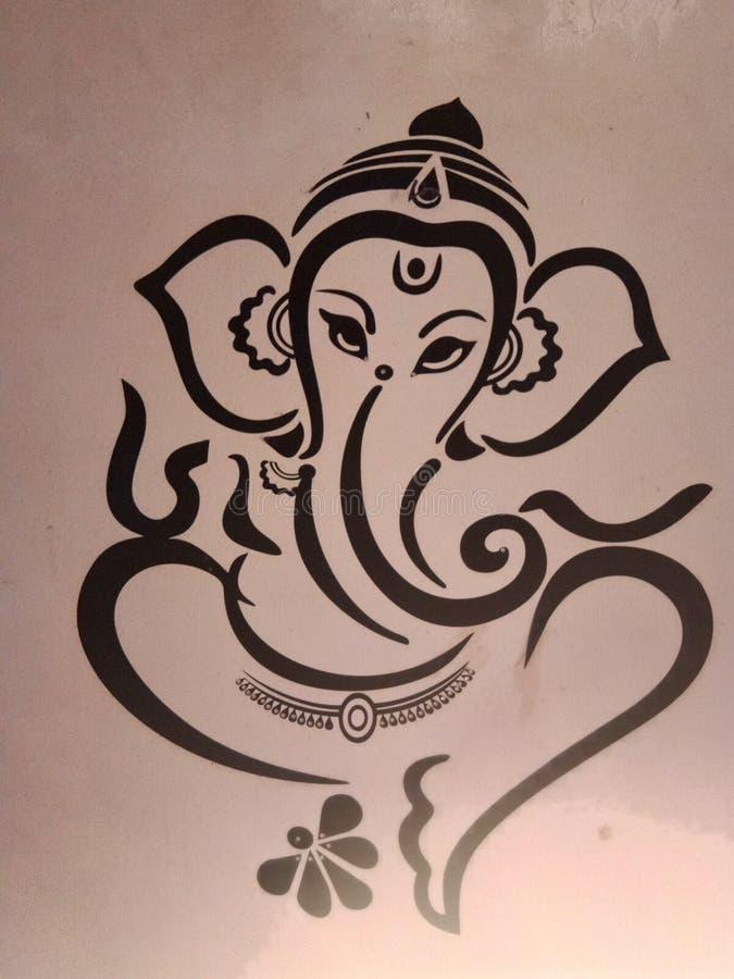 Pic di Ganesha Dio fotografia stock libera da diritti