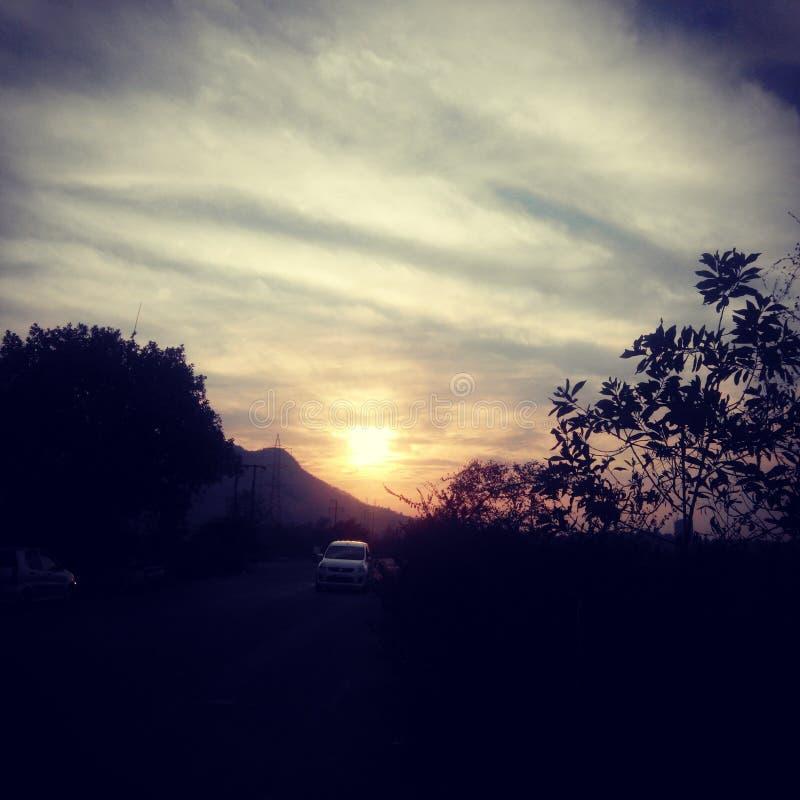 Pic di tramonto fotografia stock