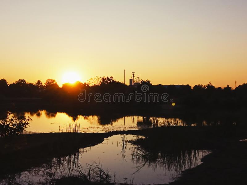 PIC do tempo do por do sol fotografia de stock royalty free