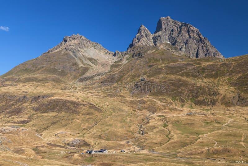 Pic du Midi d Ossau de Pourtalet fotos de archivo libres de regalías