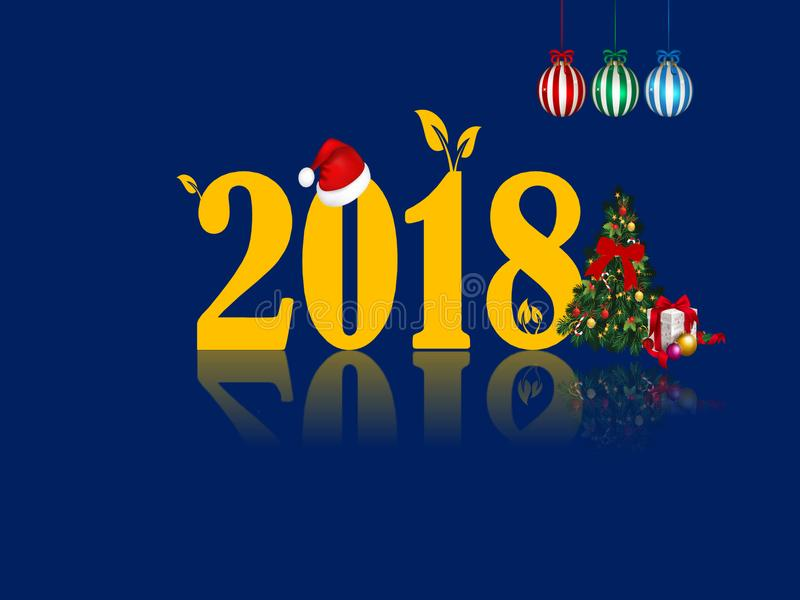 Pic 2018 för nytt år HD mycket royaltyfri foto