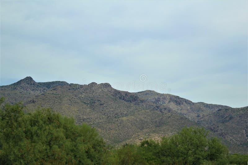 Picacho Peak State Park, State Park in Pinal County, Arizona, Vereinigte Staaten lizenzfreies stockfoto