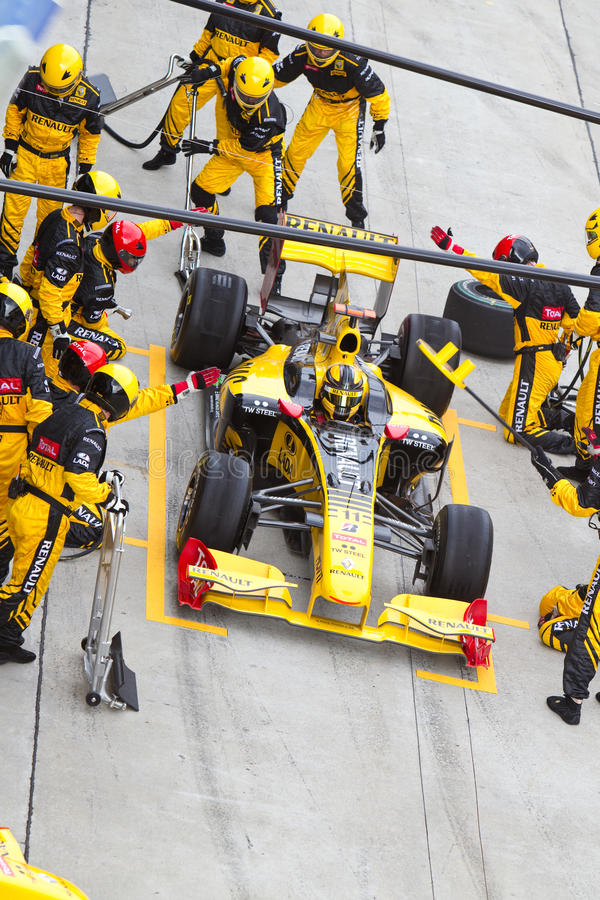 Picada de Robert Kubica no Malaysian F1 imagens de stock royalty free