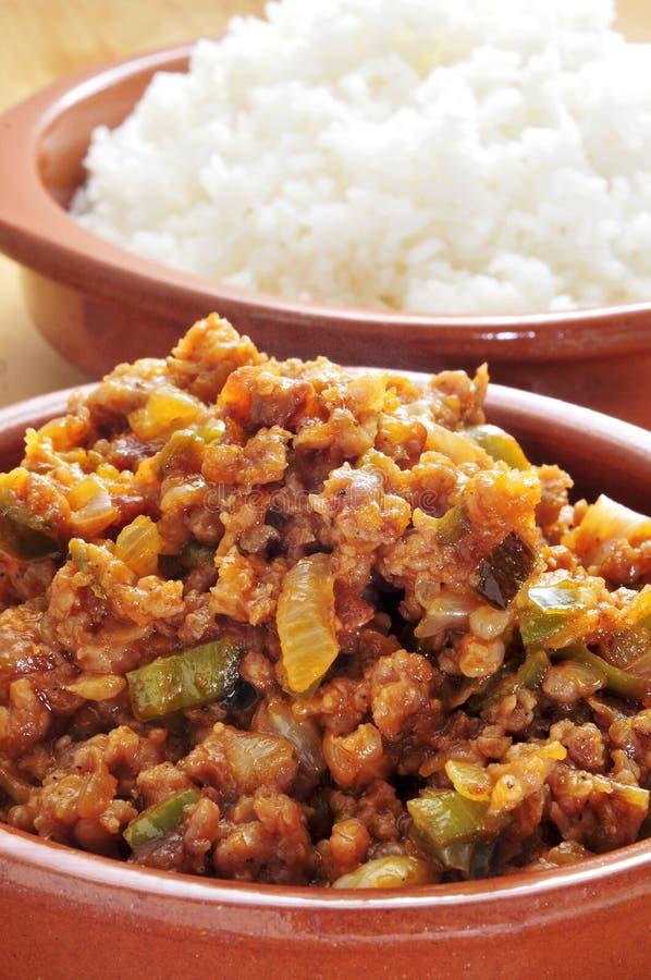 Picadillo, tradycyjny naczynie w wiele latyno-amerykański krajach, wi obraz royalty free