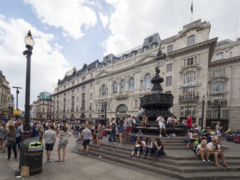 Picadilly马戏,伦敦 免版税库存照片