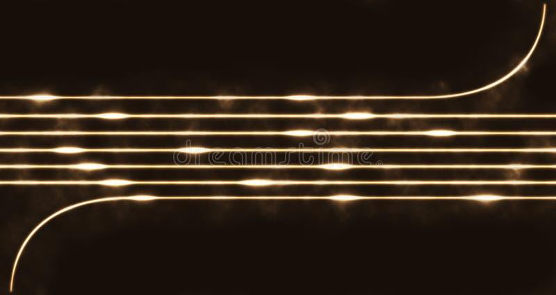 Picaduras del resplandor stock de ilustración