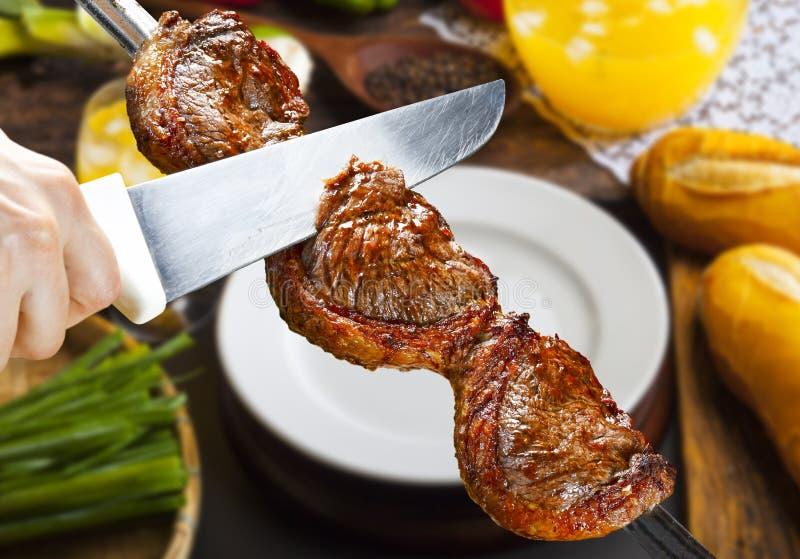 Picanha, традиционная бразильская говядина стоковые фотографии rf
