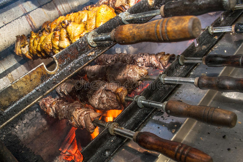 Picanha. Traditional Brazilian barbecue on restaurant royalty free stock photo