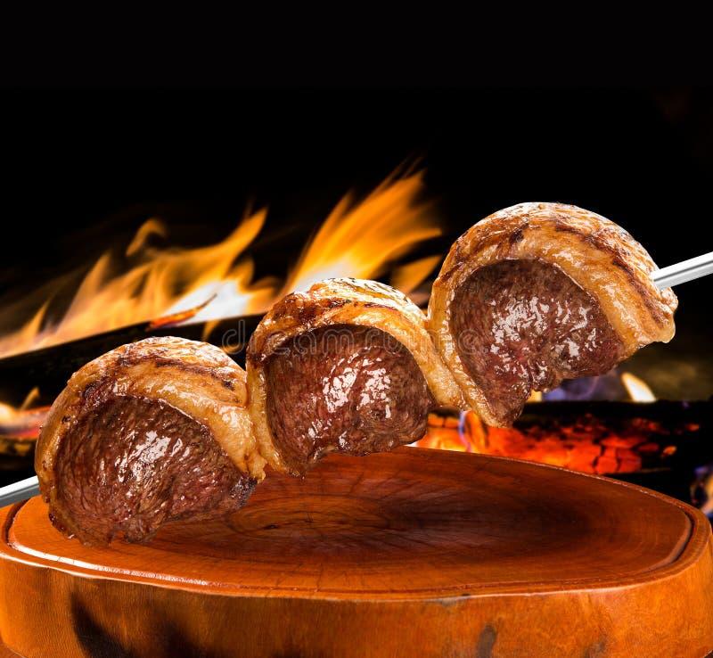 Picanha, tradycyjny Brazylijski grill fotografia royalty free