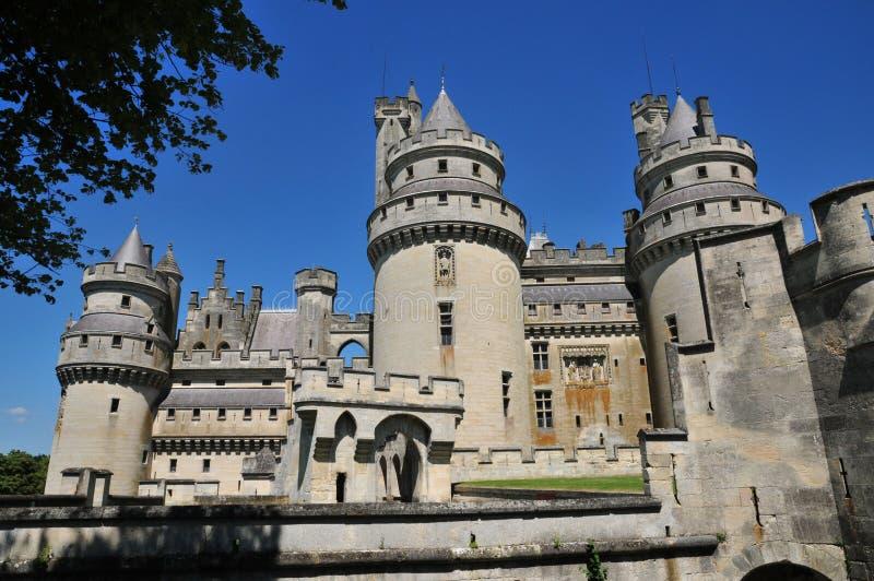 Picardie, le château pittoresque de Pierrefonds en Oise photo stock