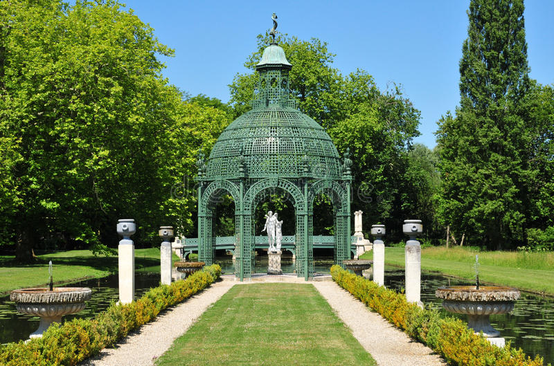 Picardie malowniczy kasztel Chantilly w Oise zdjęcie royalty free