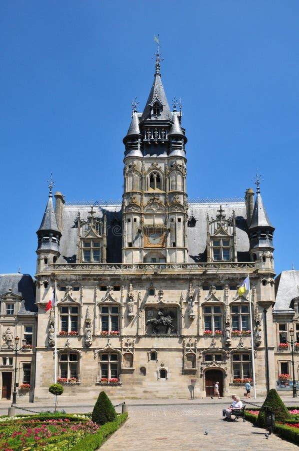 Picardie malowniczy urząd miasta Compiegne w Oise zdjęcia royalty free