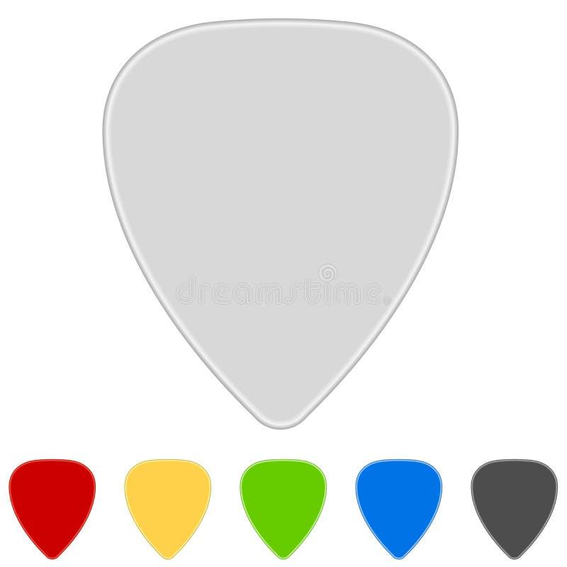 Picaretas da guitarra ilustração stock