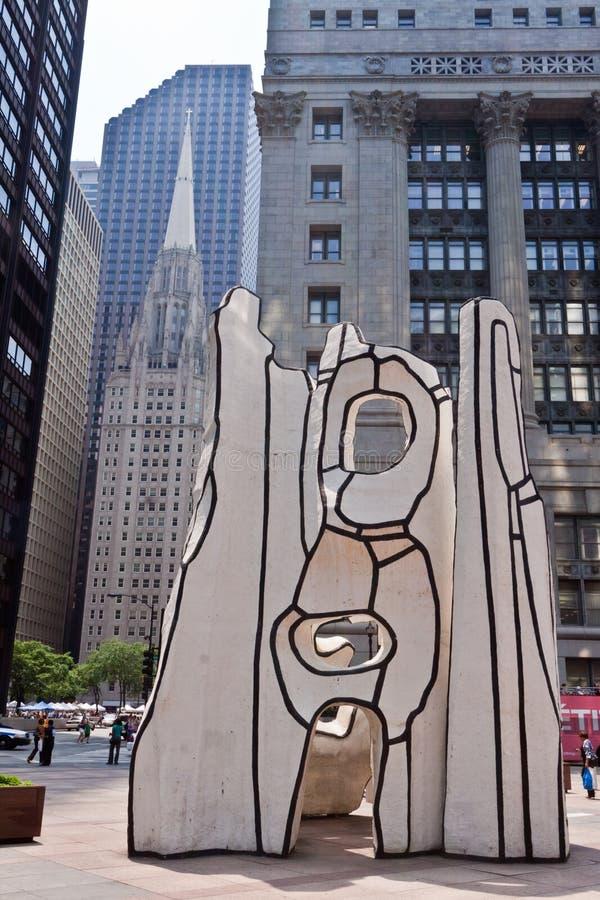 Picasso à la plaza Chicago de Daley images stock