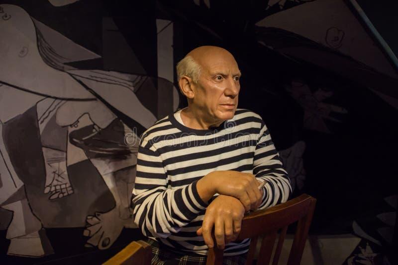 Picasso en el museo de señora Tussauds fotografía de archivo libre de regalías