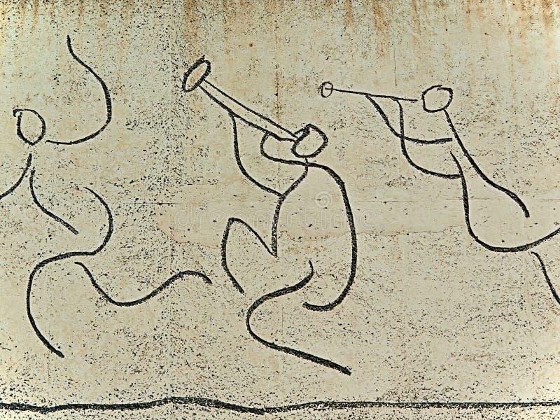 Picasso: Gr Fris dels Nens (het Fries van Kinderen). stock afbeelding