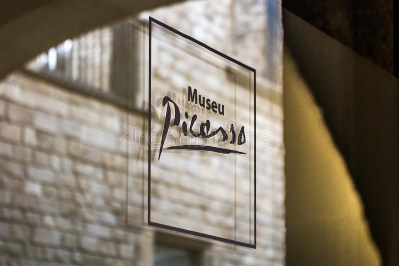 Picasso museum arkivfoto