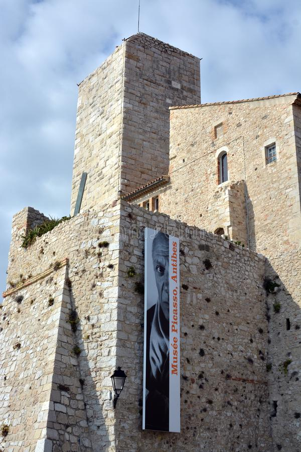 Picasso Museum on an Autumn Day in Antibes royalty free stock photo