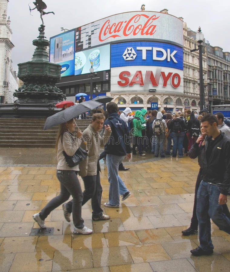 Download Piccadilly Circus crowd editorial photography. Image of piccadilly - 23636042