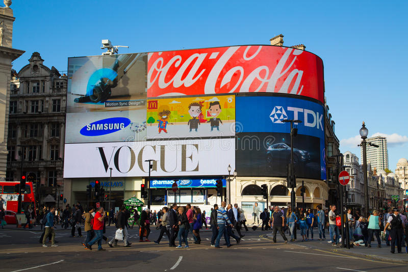 Piccadilly Circus during the day royalty free stock images