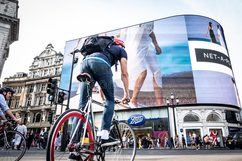 Piccadilly Circus in London`s West End royalty free stock photo