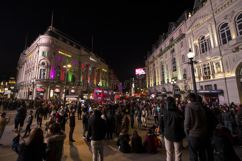 Piccadilly circus at night royalty free stock photography