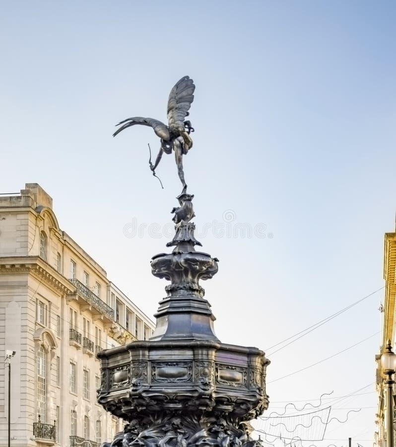 Piccadilly cyrkowa fontanna miłość boga amorek obrazy stock