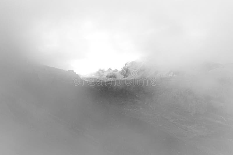 Picchi vista, massiccio di Mont Blanc, Francia della cresta delle montagne immagine stock