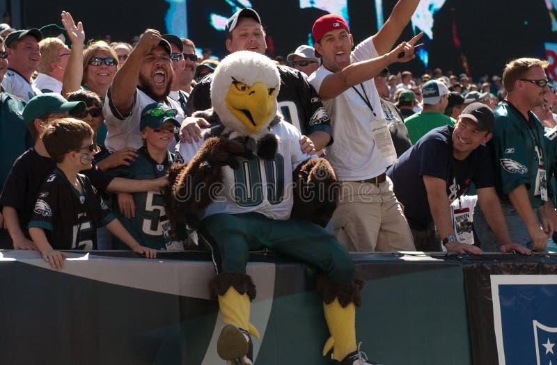 Picchiata, ventilatori del Eagles immagine stock libera da diritti