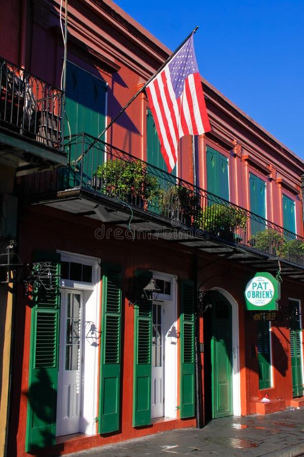 Picchiettio Obriens del quartiere francese di New Orleans immagini stock libere da diritti
