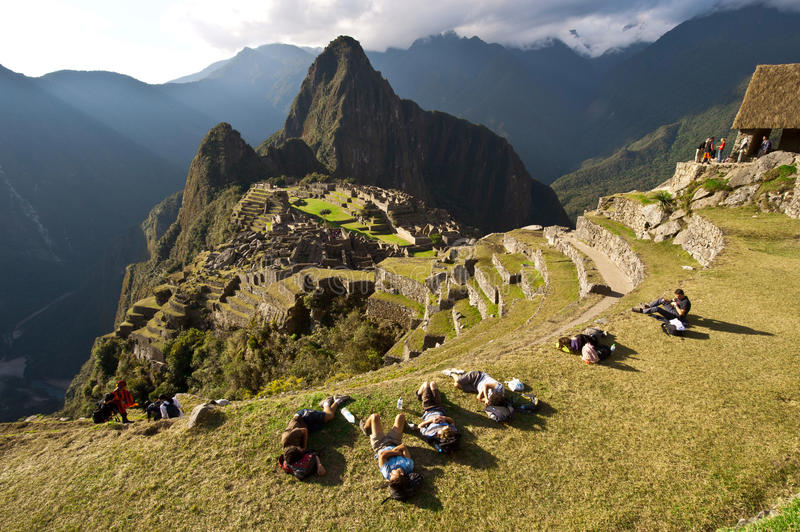 PICCHU DE MACHU, CUSCO, PÉROU photographie stock libre de droits