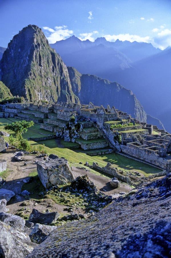 picchu del Perù di machu fotografia stock libera da diritti