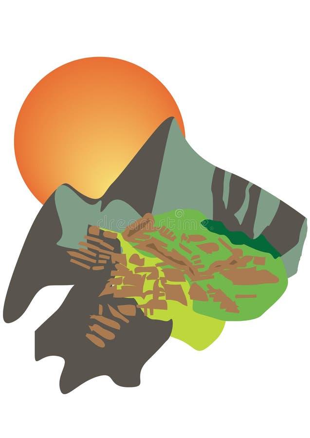 picchu du Pérou de machu illustration stock