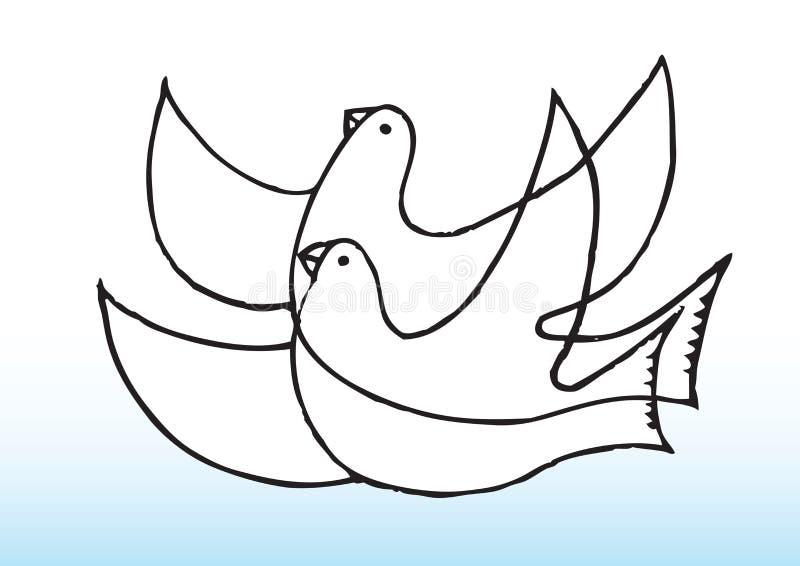 Piccione di pace royalty illustrazione gratis